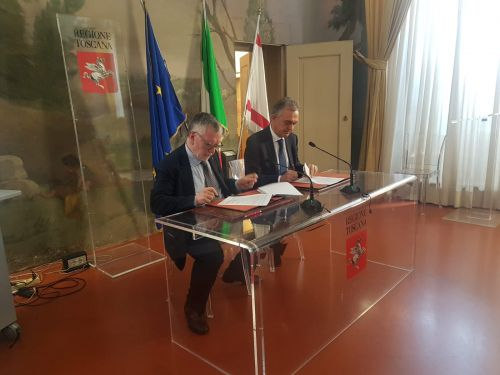 Firma del patto tra Regione Toscana e Cnr